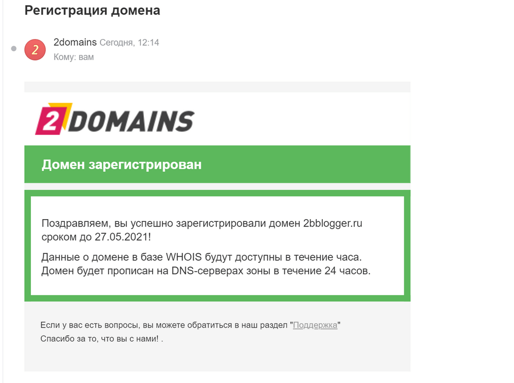 частная регистрация домена что это