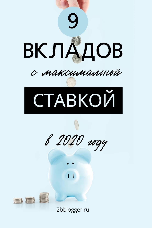 Банковские вклады: максимальная ставка в 2020. Куда инвестировать деньги.